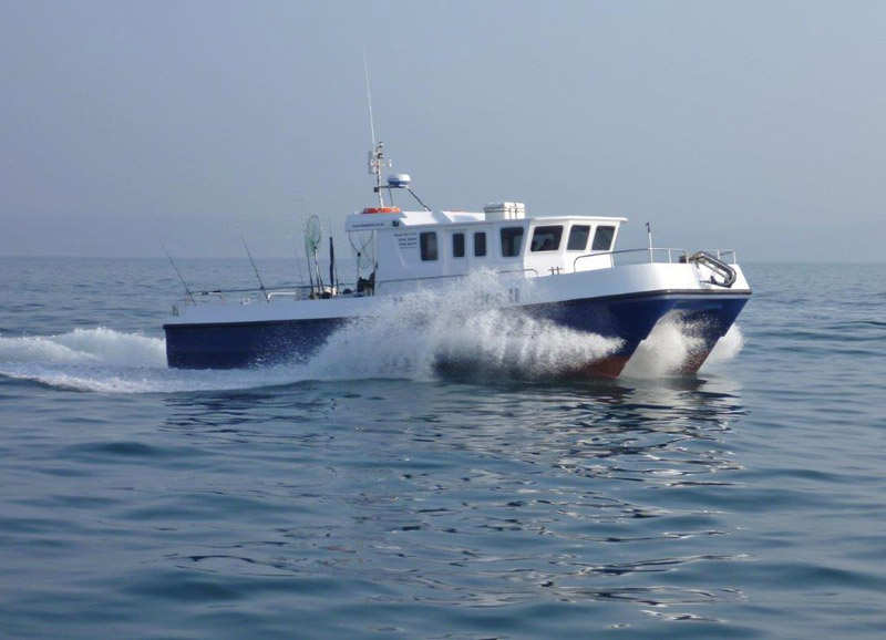 Wild Frontier 2 is an 11 meter fast catamaran coded for 12 passengers