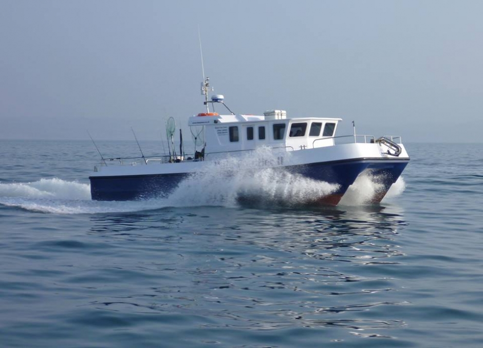 Avaialble for Diving, Fishing and survey work