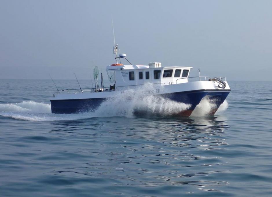 Ilfracombe biggest charter angling catamaran